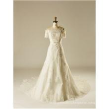 с плеча кружева бисероплетение Кристалл блестками-line свадебное свадебное платье
