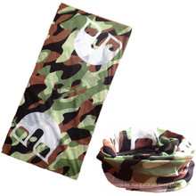 Bufanda tubular inconsútil impresa camuflaje verde camuflaje de la microfibra barata del poliéster