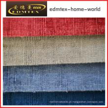 Tecido liso do Chenille para a embalagem do sofá nos rolos (EDM0197)