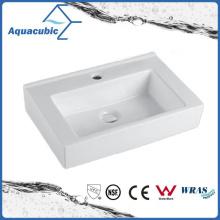 Square Bathroom Ceramic Cabinet Basin Hand Washing Sink (ACB4548)