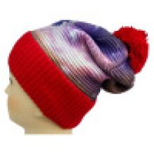 Bonnet tricoté avec impression sublimation NTD1668