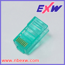 Plug 8P8C Transparent Green