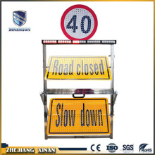 cardboard construction traffic board sign