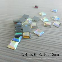 Wholesale Square Crystal Ab Non-Hotfix Rhinestone