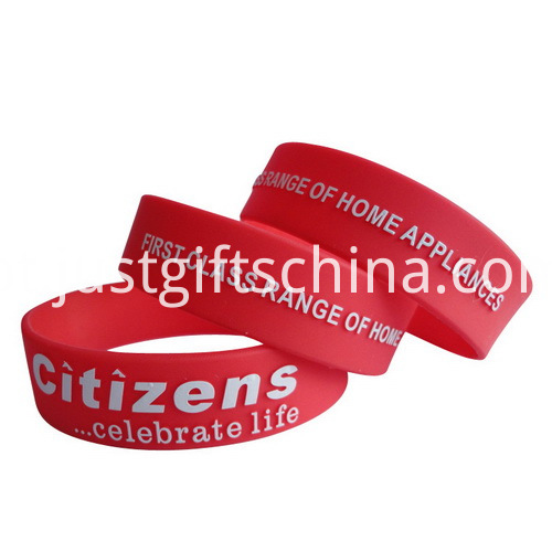 1 Inch Embossed Imprint Wristbands - 180mmx25
