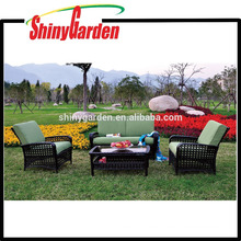 Home Depot New Design Style Hohe Qualität 4 STÜCKE Rattan Wicker Sofa Set Möbel