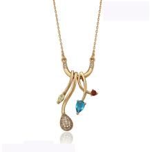 41939 wholesale xuping elegant necklace 18K gold color  diamond fashion beautiful necklace