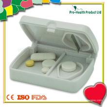 Coupeuse à comprimés en plastique avec boîte à comprimés