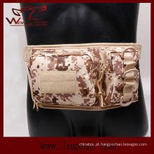 Saco de cintura dupla Bolsa Nylon tático militar para saco de desporto