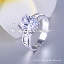 silver fake diamond jewelry ring 2016 hot selling design imitation ring