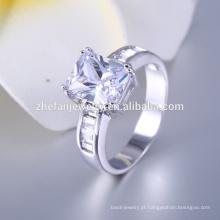 Anel de imitação de diamante falso de prata 2016 Anel de imitação de diamante falso de venda quente