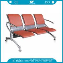AG-TWC003 trois sièges publics en métal hôpital antique salle d'attente chaises