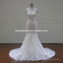 XF16072 Vestidos de novia de la novia de la boda del vestido de boda del cuello redondo 2017