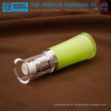 YB-X15 cintura agradable de 15 ml ronda estable de forma y claro de buena calidad botellas de plástico acrílico