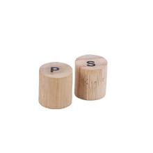100% biodegradable natural bamboo salt and pepper shaker for airlines railway restaurant