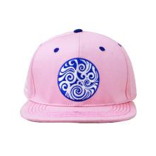 Remendo de couro Embriodery Brim Snapback Hat