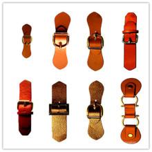 Botón de cuero para la bolsa de abrigo Suticase (HJLP11)
