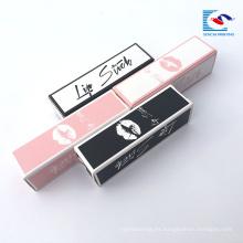 cajas de empaquetado de etiqueta privada de brillo de labios de diseño personalizado