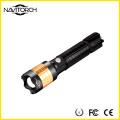 Drehender Fokus Wiederaufladbarer Zoom 260 Lumen Taschenlampe (NK-1869)