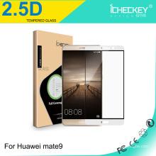 Protecteur d'écran en verre trempé mobile à couverture totale pour Huawei mate 9 0.33mm 2.5D