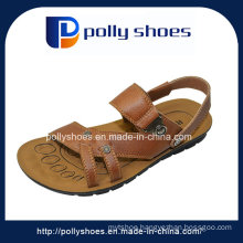 Fashion Casual Short Heel Latest Leather Men Sandal