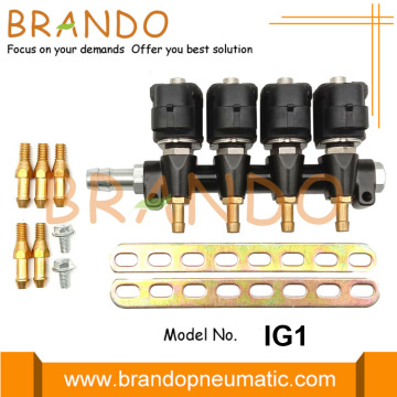 4 cilindros 3Ohm IG1 Apache LPG Rail Inyector