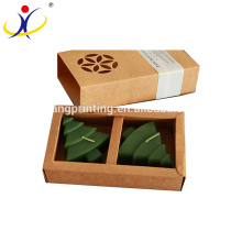 Wholesale Custom Brown Kraft Paper Candle Boxes
