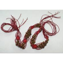 Fashion Hand made garment waxed cord braided belts-KL0059