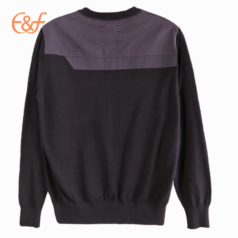 Latest New Style Knitted Jumpers with back Shoulder Patches