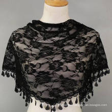Hot selling fashion women neckerchief hand hook bandhnu triangle lace scarf