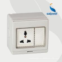 Южноафриканский стиль 3-полюсная электрическая розетка переменного тока