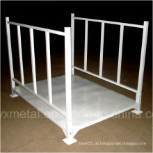Faltbarer Faltbarer stapelbarer Stahlkonstruktions-Metalllagerung für Stoffe