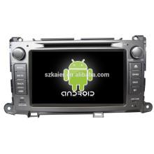 DVD de voiture pour Toyota Sienna avec wince ou système android + core de qual + 8inch