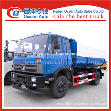 2015 new condition dongfeng 12m3 hydraulic lifter garbage truck
