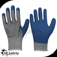 SRSAFETY синие резиновые перчатки латексная стойкая перчатка