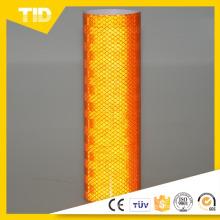 Orange Super intensité Grade Micro prismatiques feuille réfléchissante