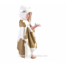 cotton velour reactive print hooded towel for kids