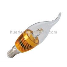 El E14 blanco fresco caliente de la venta llevó la luz del candel