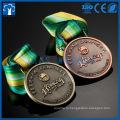 Дешевые металл 3D золотой бронзовый серебряный здания медалей
