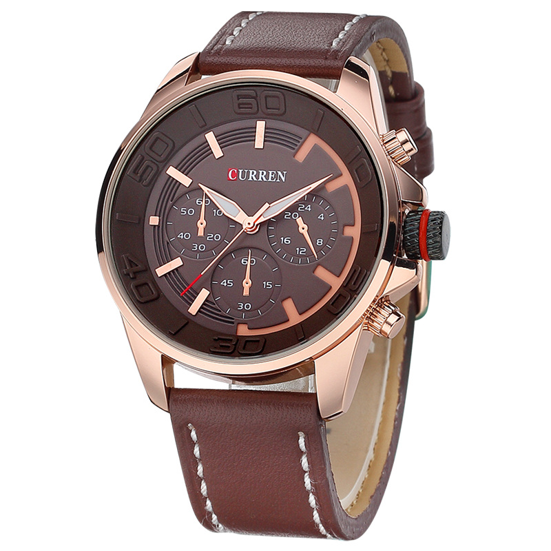 Best Curren Leather Men Quartz Watches