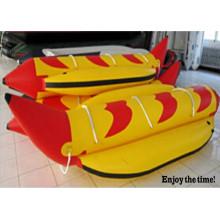 2015 die beliebtesten aufblasbare 2 Rohre 3 Person Banana-Boat mit CE China