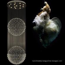 Double balls crystal chandelier pendant led modern hanging lighting 92023