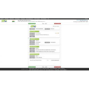 Amostra de dados de importação da Oxygen Generator India