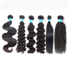 Barato 100 cabelo humano extensão raw cabelo indiano bundle, remy extensões de cabelo natural, fornecedores de cabelo cru natural cabelo indiano virgem