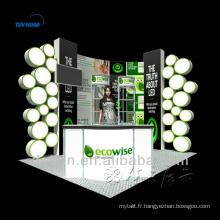 Présentoir cosmétique personnalisé à faible coût pour l'affichage du stand