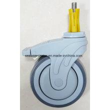 """Roda médica TPR de 5 """"com tubo de expansão"""