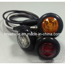 """0.75"""" LED Oval Marker Clearance Side Lamp for Truck"""