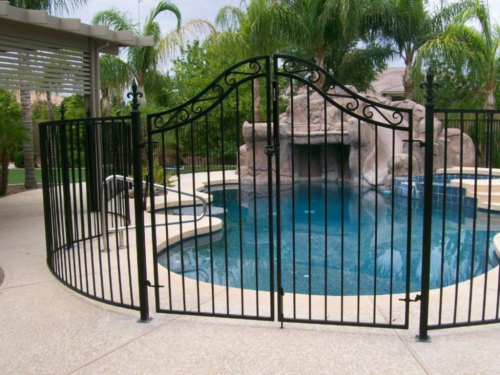 Wrought iron garden gate
