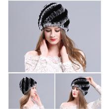 Castor conejo sombrero de piel sombrero de piel invierno femenino