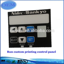 High quality OEM embossed button touch graphic overlay